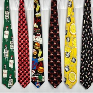 lot of 6 Chick-fil-A ties collectible rare
